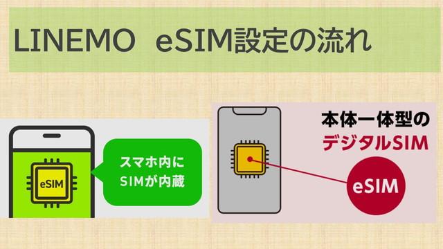 LINEMOでeSIMに変更の流れ!設定ポイント案内
