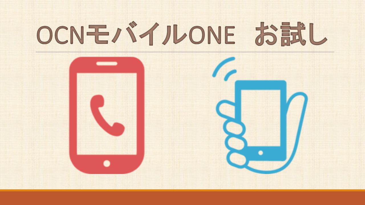 OCNモバイルONE30日間お試しgoo Simsellerトライアルキャンペーン